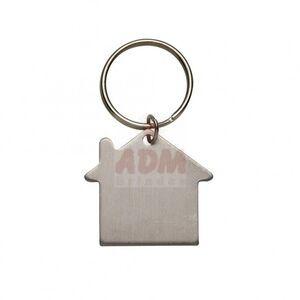00200 Chaveiro Plaquinha Formato Casa