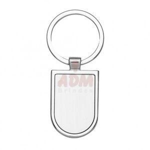 01657 Chaveiro de metal formato escudo com chapa central